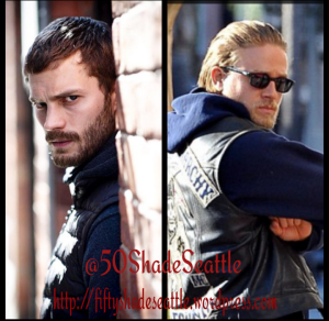 Jamie Dornan as The Falls Paul Spector & Charlie Hunnam as Sons of Anarchys Jax Teller