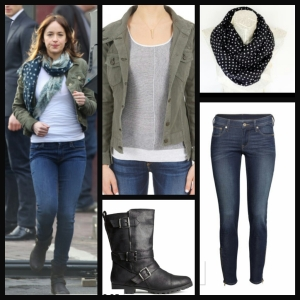 Ana's Look  Jacket: Rag and Bone Jeans and Boots: H & M Scarf: Etsy