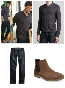 Christian's Look Sweater: Rag and Bone  Jeans: Lucky Brand  Shoes: Nordstrom
